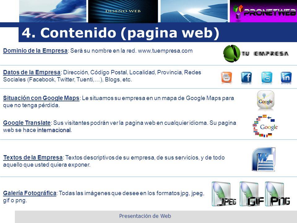 4. Contenido (pagina web)