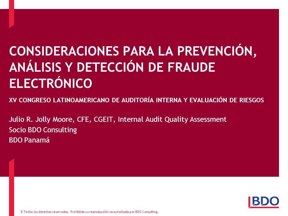 CONSIDERACIONES PARA LA PREVENCIÓN, ANÁLISIS Y DETECCIÓN DE FRAUDE ELECTRÓNICO