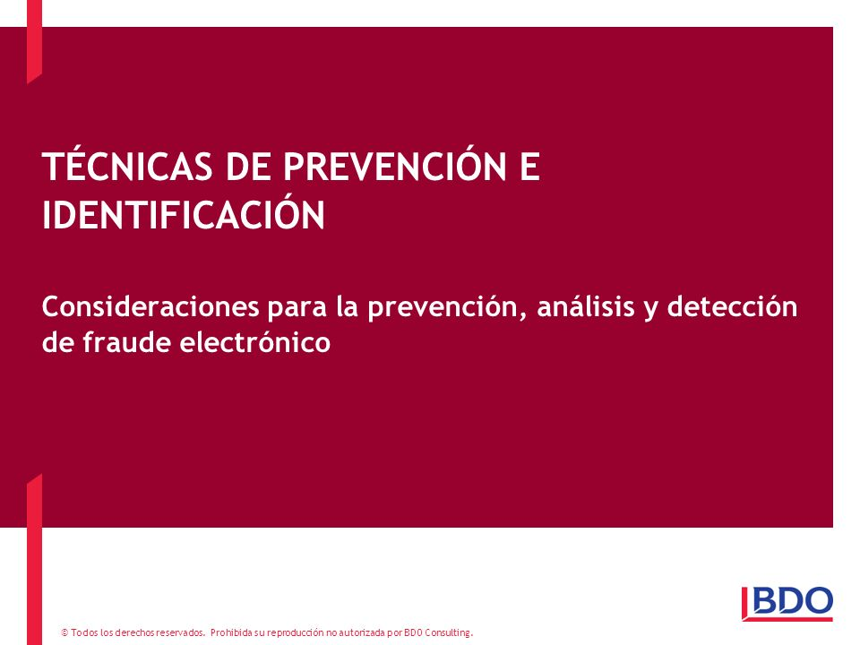 TÉCNICAS DE PREVENCIÓN E IDENTIFICACIÓN