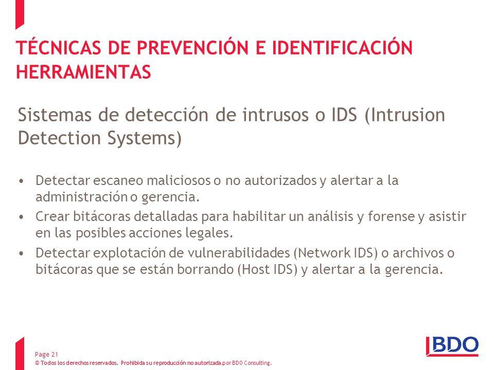 TÉCNICAS DE PREVENCIÓN E IDENTIFICACIÓN HERRAMIENTAS