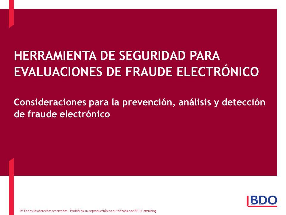 HERRAMIENTA DE SEGURIDAD PARA EVALUACIONES DE FRAUDE ELECTRÓNICO