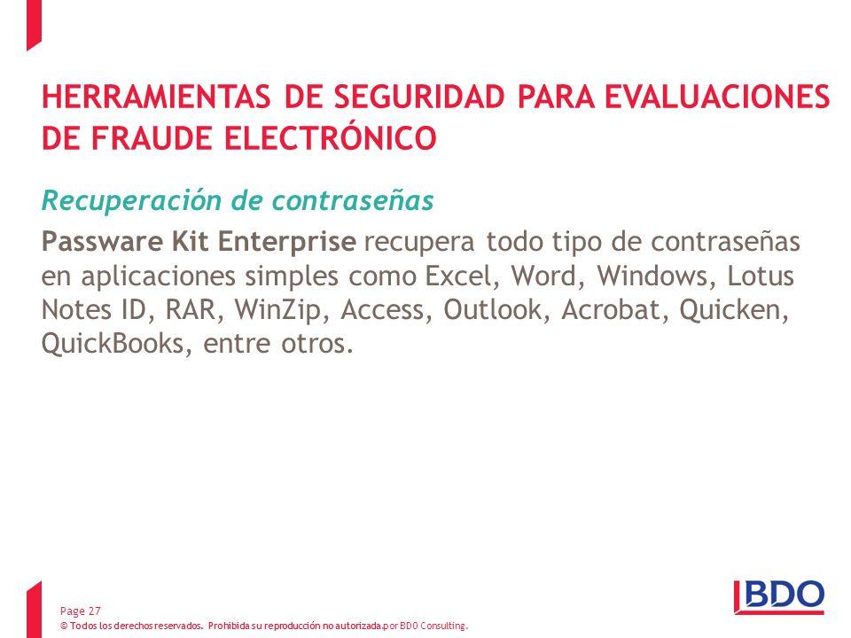 HERRAMIENTAS DE SEGURIDAD PARA EVALUACIONES DE FRAUDE ELECTRÓNICO