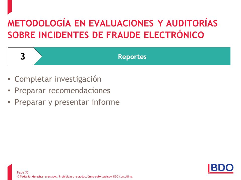 METODOLOGÍA EN EVALUACIONES Y AUDITORÍAS SOBRE INCIDENTES DE FRAUDE ELECTRÓNICO