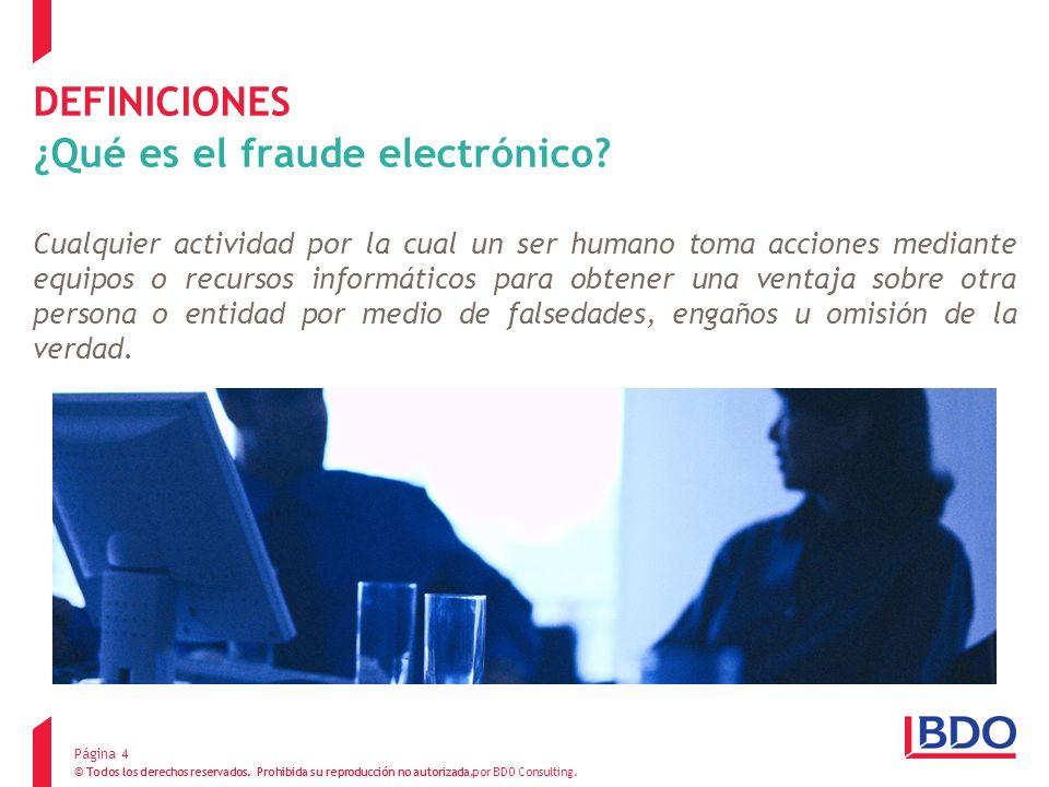 DEFINICIONES ¿Qué es el fraude electrónico