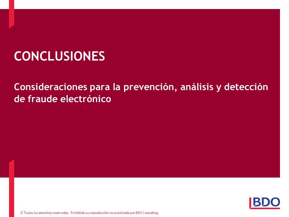 CONCLUSIONES Consideraciones para la prevención, análisis y detección de fraude electrónico