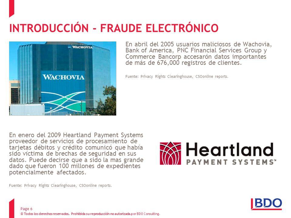 INTRODUCCIÓN - FRAUDE ELECTRÓNICO