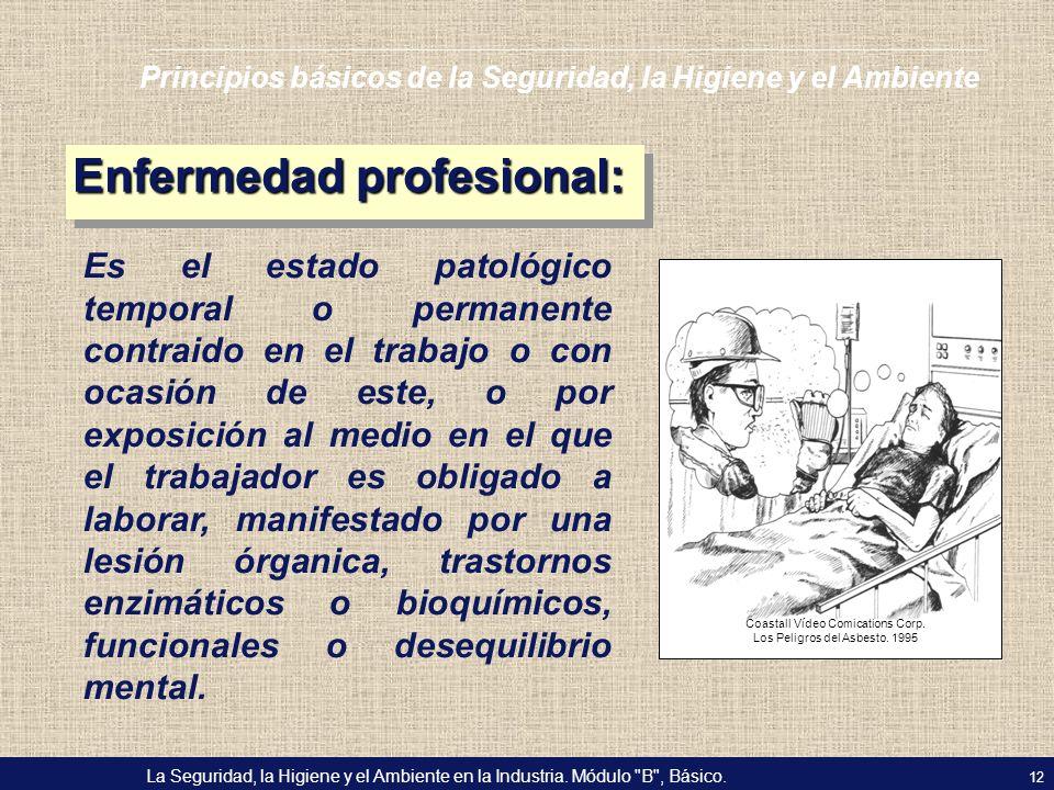 Enfermedad profesional: