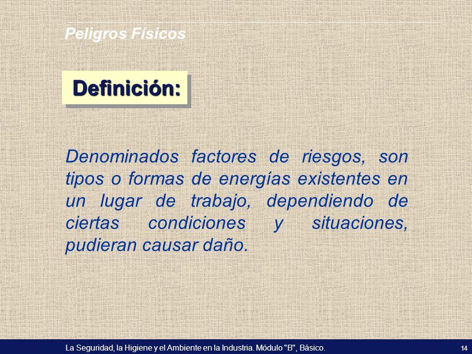 Peligros Físicos Definición: