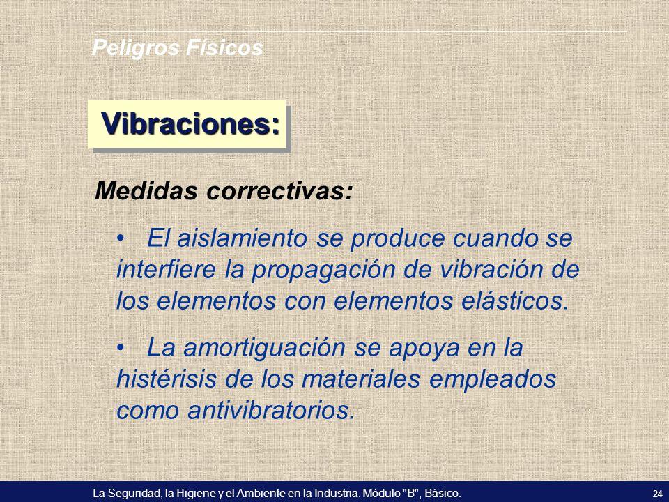 Vibraciones: Medidas correctivas: