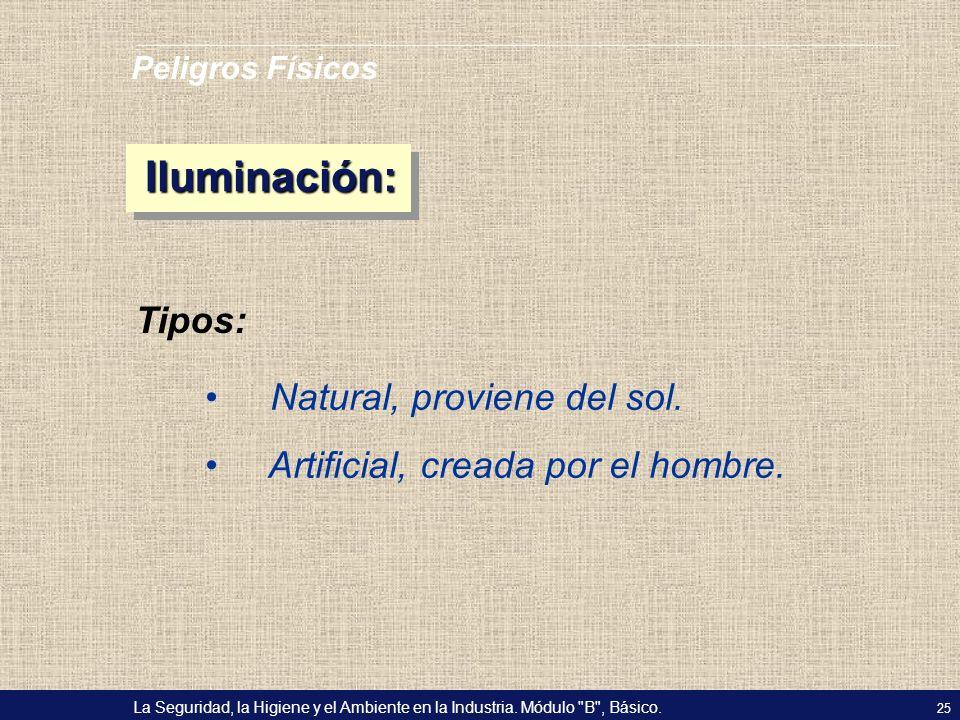Iluminación: Tipos: Natural, proviene del sol.