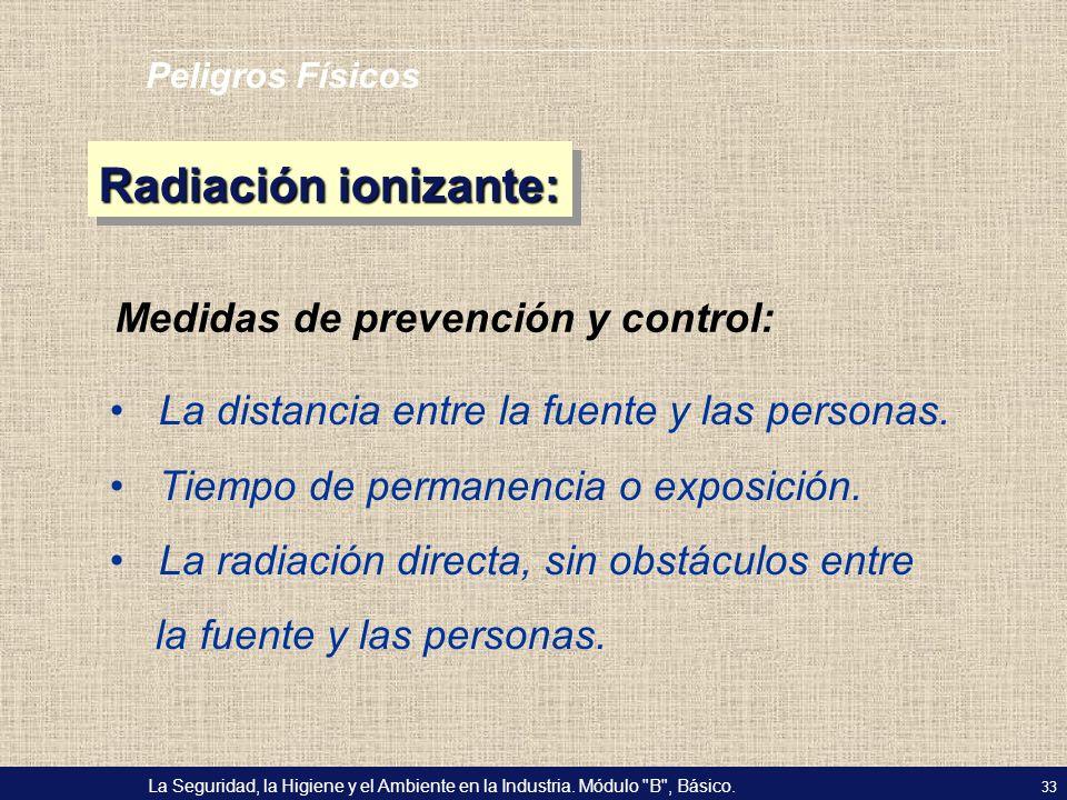 Radiación ionizante: Medidas de prevención y control:
