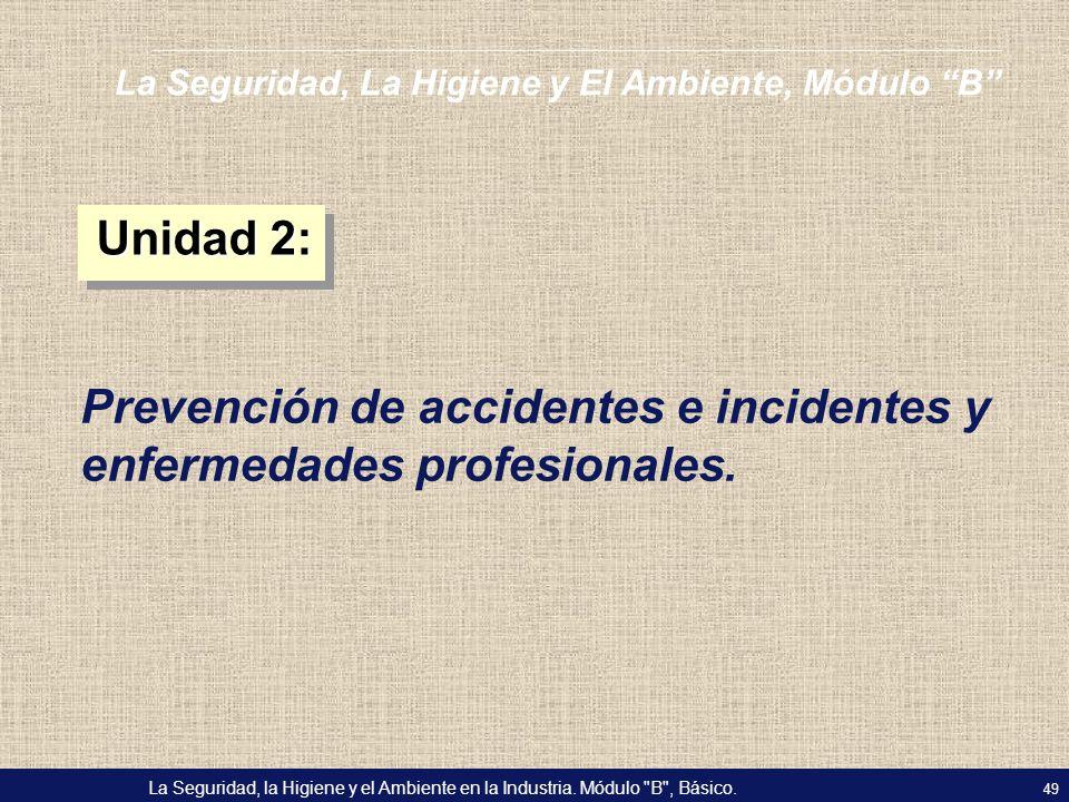 Prevención de accidentes e incidentes y enfermedades profesionales.