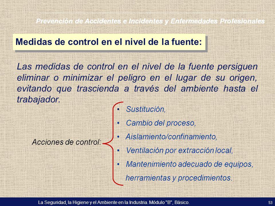 Medidas de control en el nivel de la fuente: