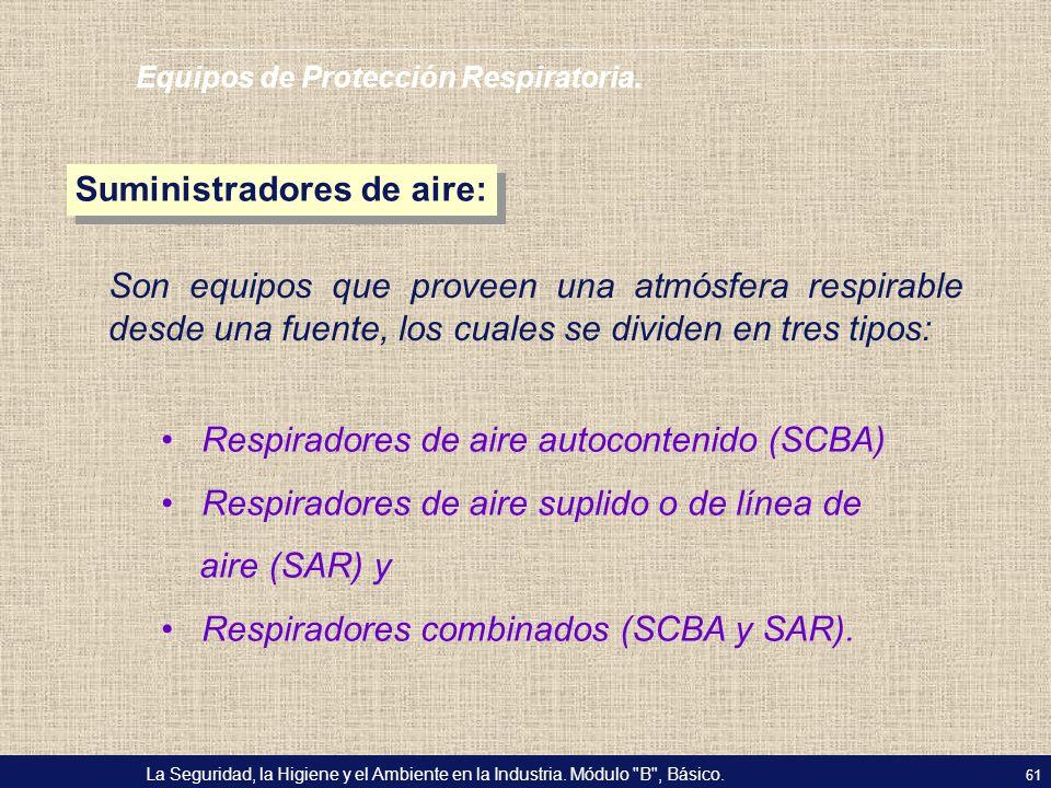 Suministradores de aire: