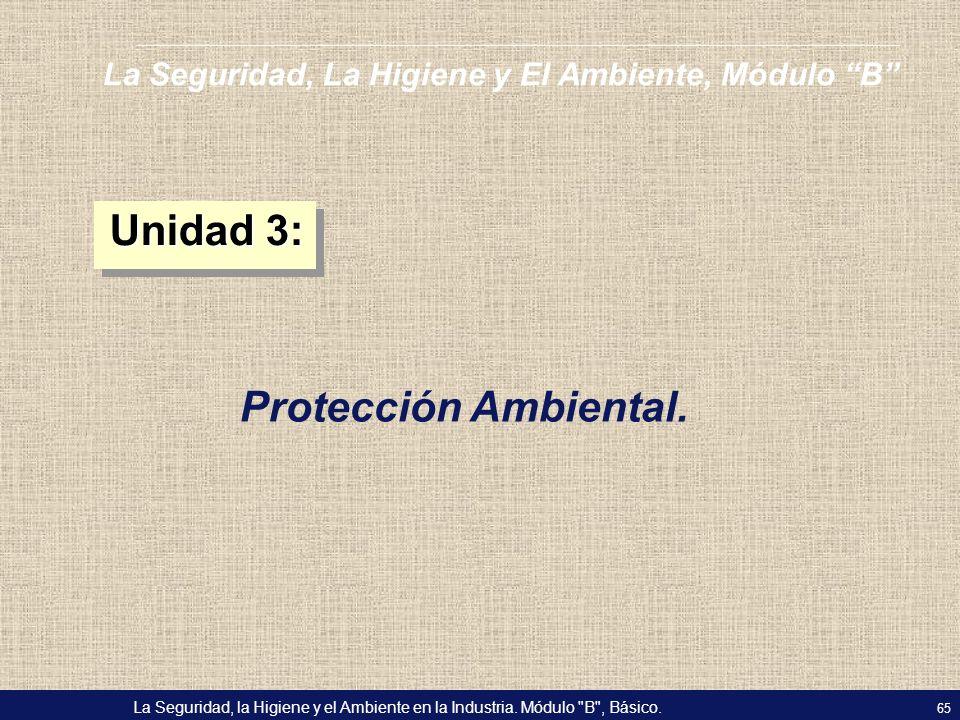 Unidad 3: Protección Ambiental.