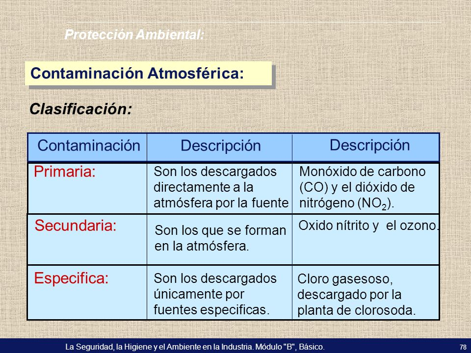 Contaminación Atmosférica:
