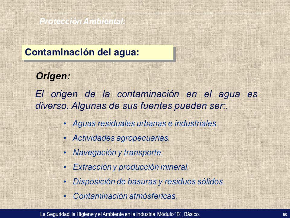 Contaminación del agua: