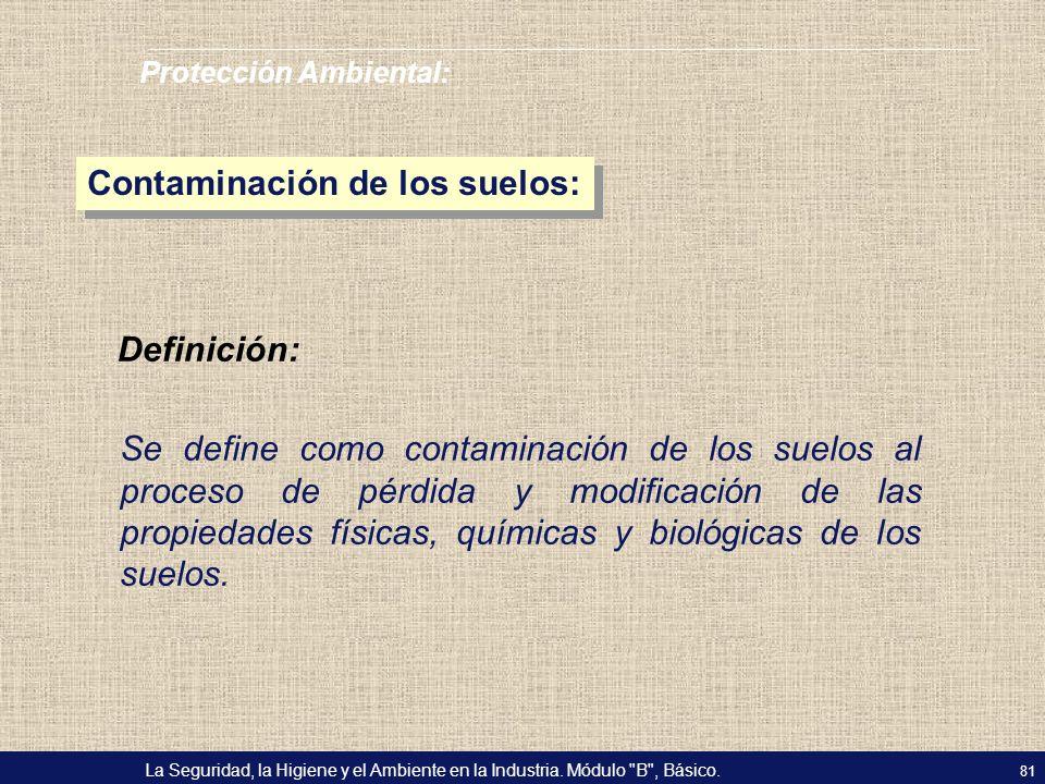 Contaminación de los suelos: