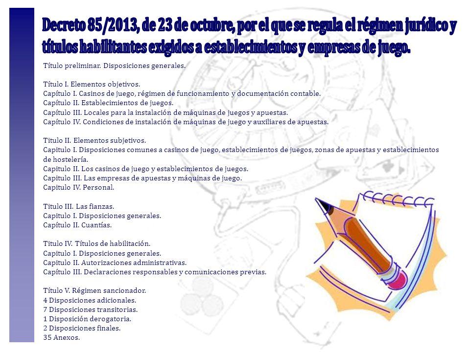 Decreto 85/2013, de 23 de octubre, por el que se regula el régimen jurídico y