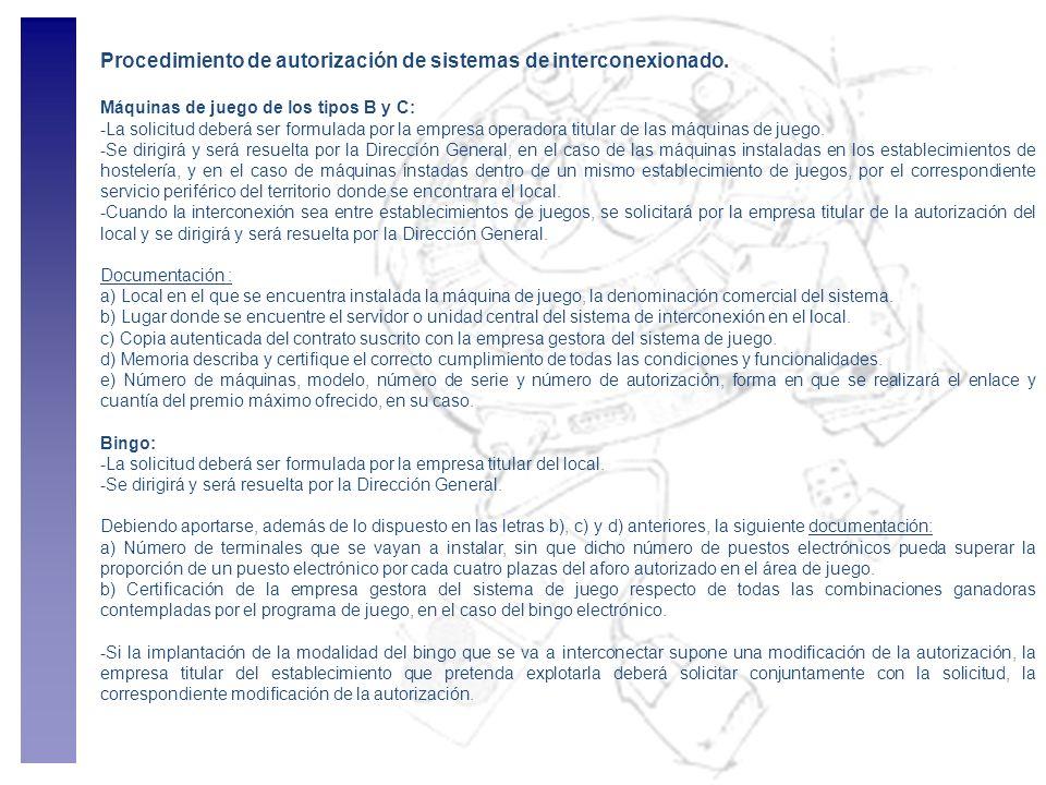 Procedimiento de autorización de sistemas de interconexionado.