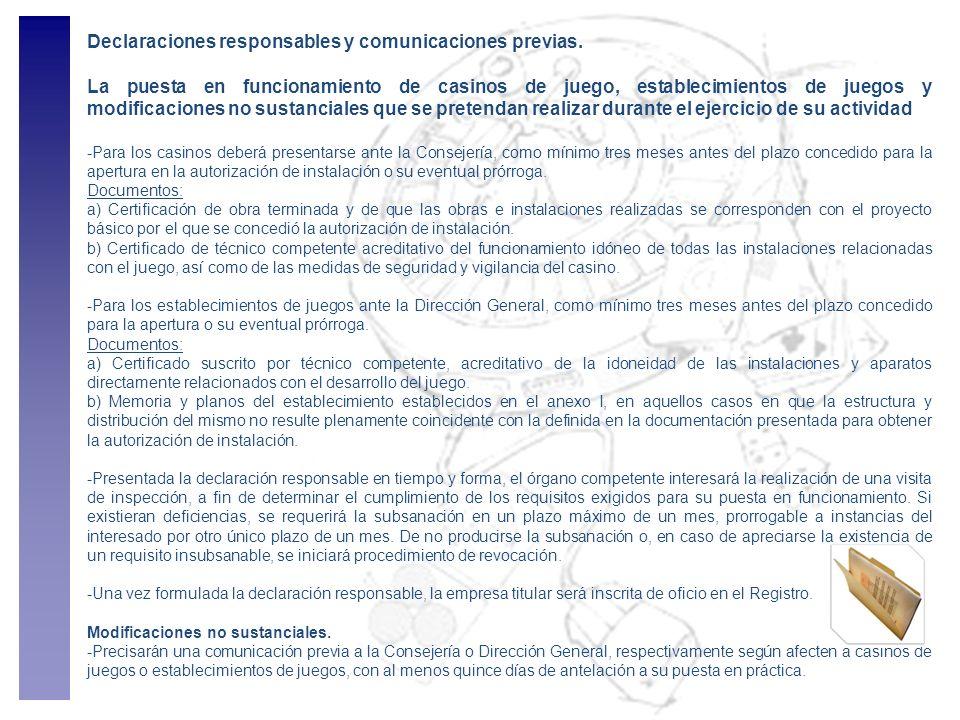 Declaraciones responsables y comunicaciones previas.