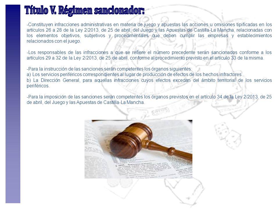 Título V. Régimen sancionador: