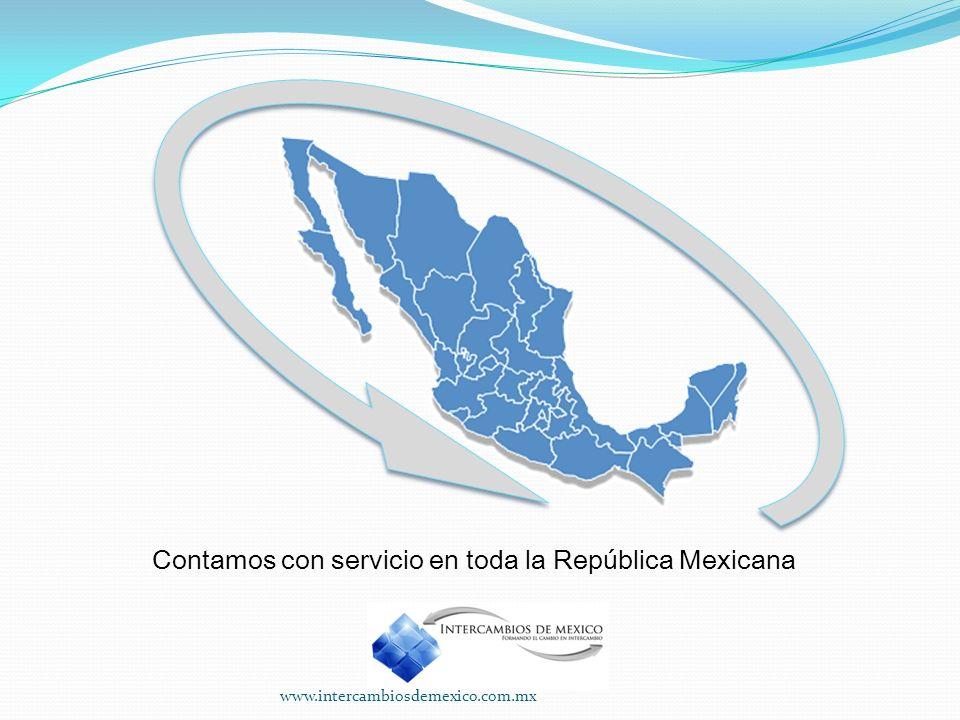 Contamos con servicio en toda la República Mexicana