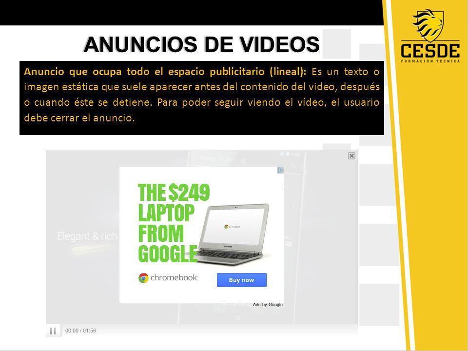 ANUNCIOS DE VIDEOS