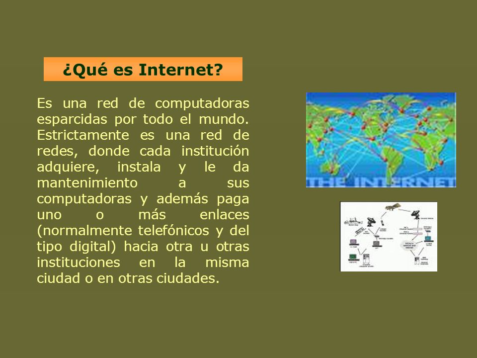 ¿Qué es Internet
