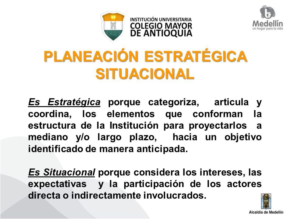 PLANEACIÓN ESTRATÉGICA SITUACIONAL