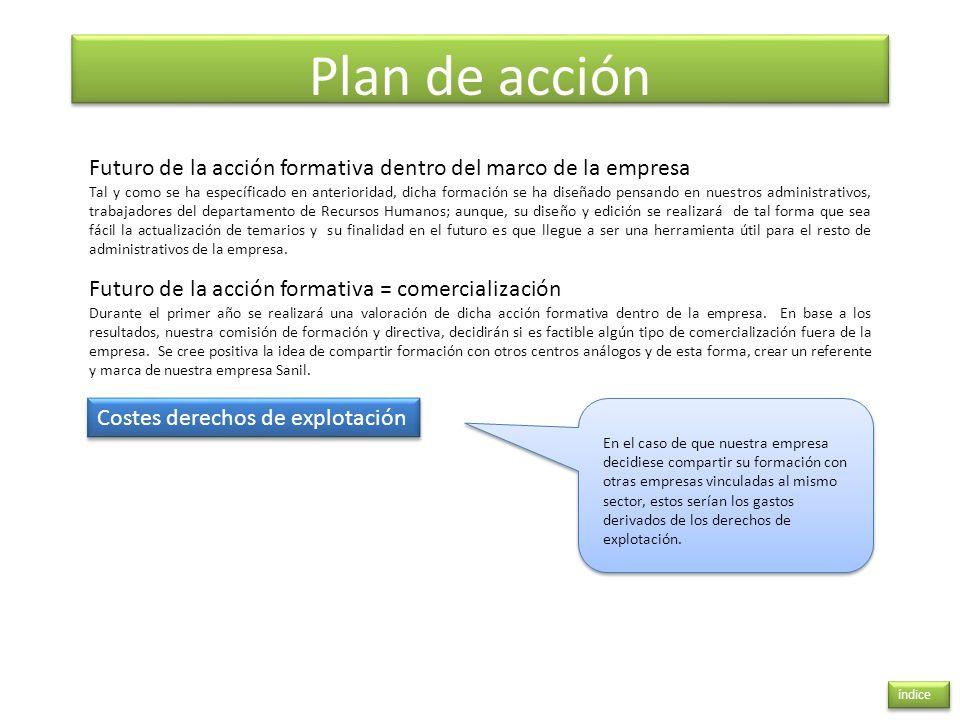 Plan de acción Futuro de la acción formativa dentro del marco de la empresa.