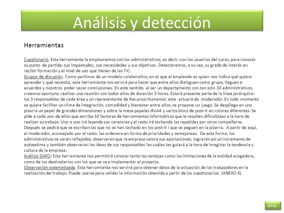 Análisis y detección Herramientas