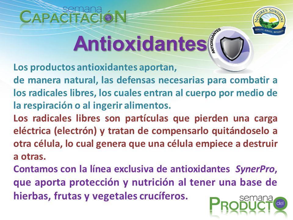 Antioxidantes Los productos antioxidantes aportan,