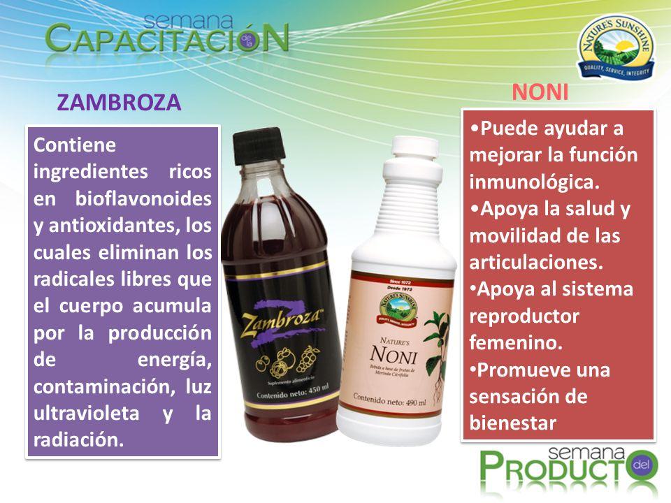 NONI ZAMBROZA Puede ayudar a mejorar la función inmunológica.
