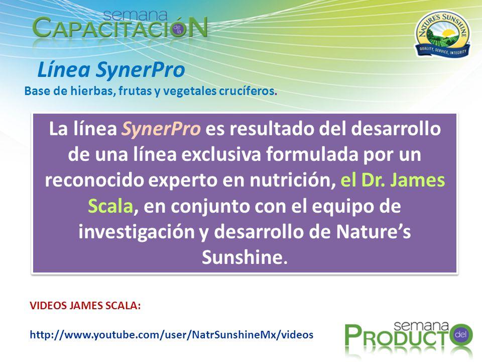 Línea SynerPro Base de hierbas, frutas y vegetales crucíferos.