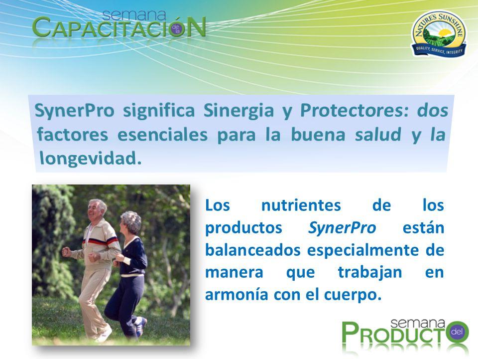 SynerPro significa Sinergia y Protectores: dos factores esenciales para la buena salud y la longevidad.