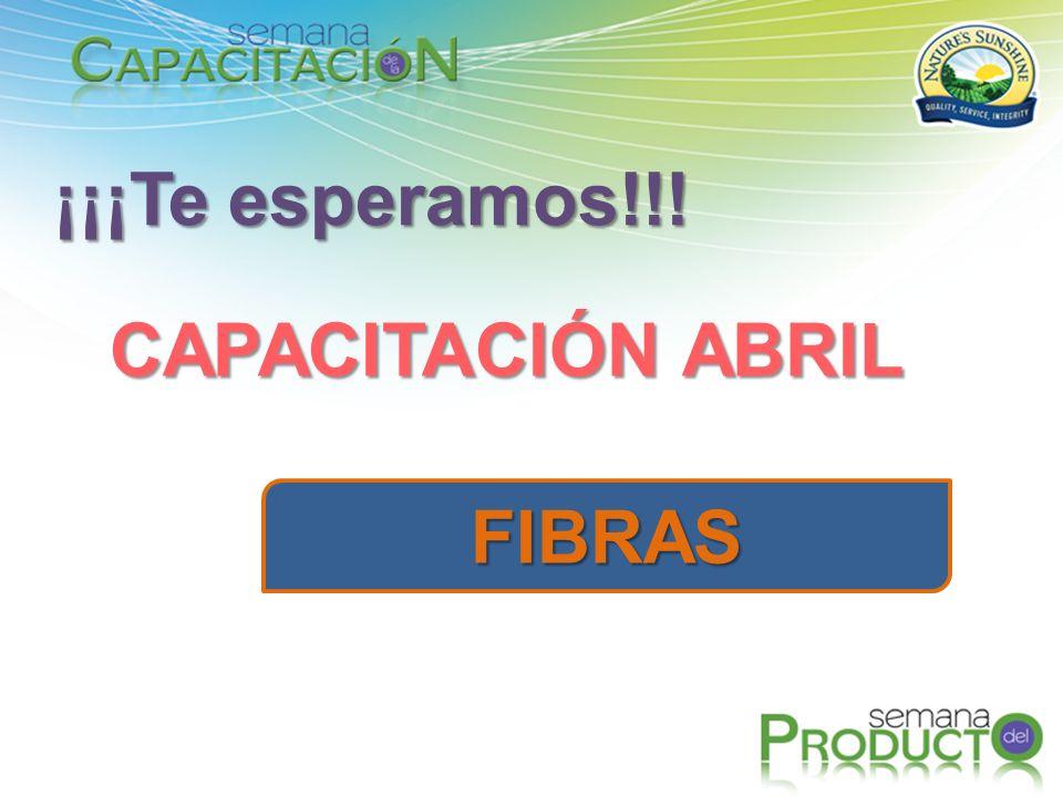 ¡¡¡Te esperamos!!! CAPACITACIÓN ABRIL FIBRAS