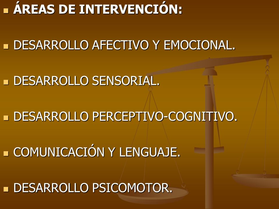 ÁREAS DE INTERVENCIÓN: