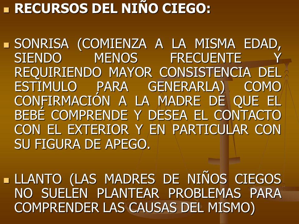 RECURSOS DEL NIÑO CIEGO: