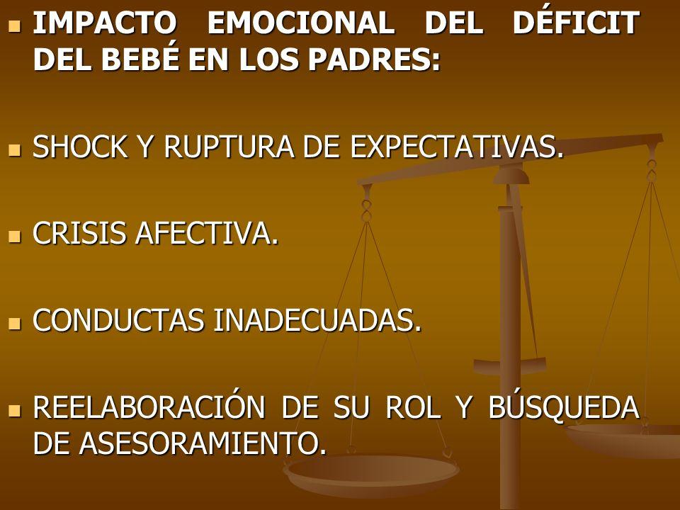 IMPACTO EMOCIONAL DEL DÉFICIT DEL BEBÉ EN LOS PADRES: