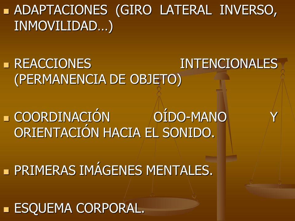 ADAPTACIONES (GIRO LATERAL INVERSO, INMOVILIDAD…)