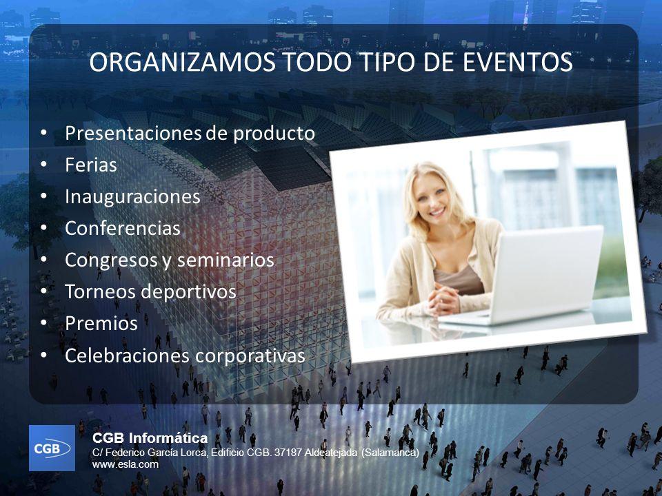 ORGANIZAMOS TODO TIPO DE EVENTOS