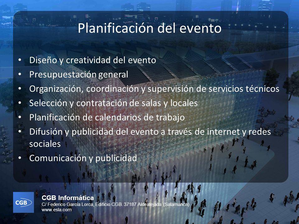 Planificación del evento