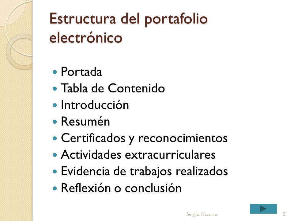 Estructura del portafolio electrónico