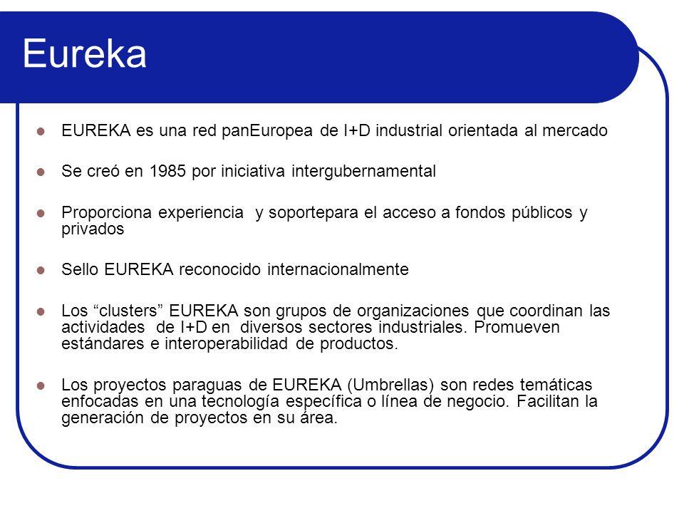 EurekaEUREKA es una red panEuropea de I+D industrial orientada al mercado. Se creó en 1985 por iniciativa intergubernamental.