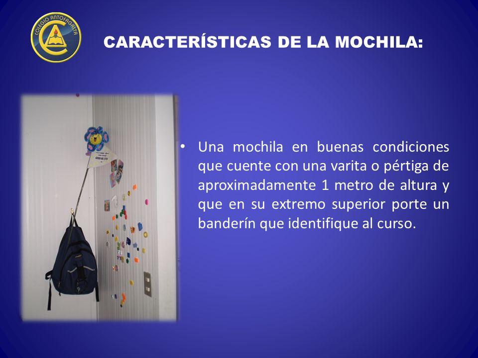 CARACTERÍSTICAS DE LA MOCHILA: