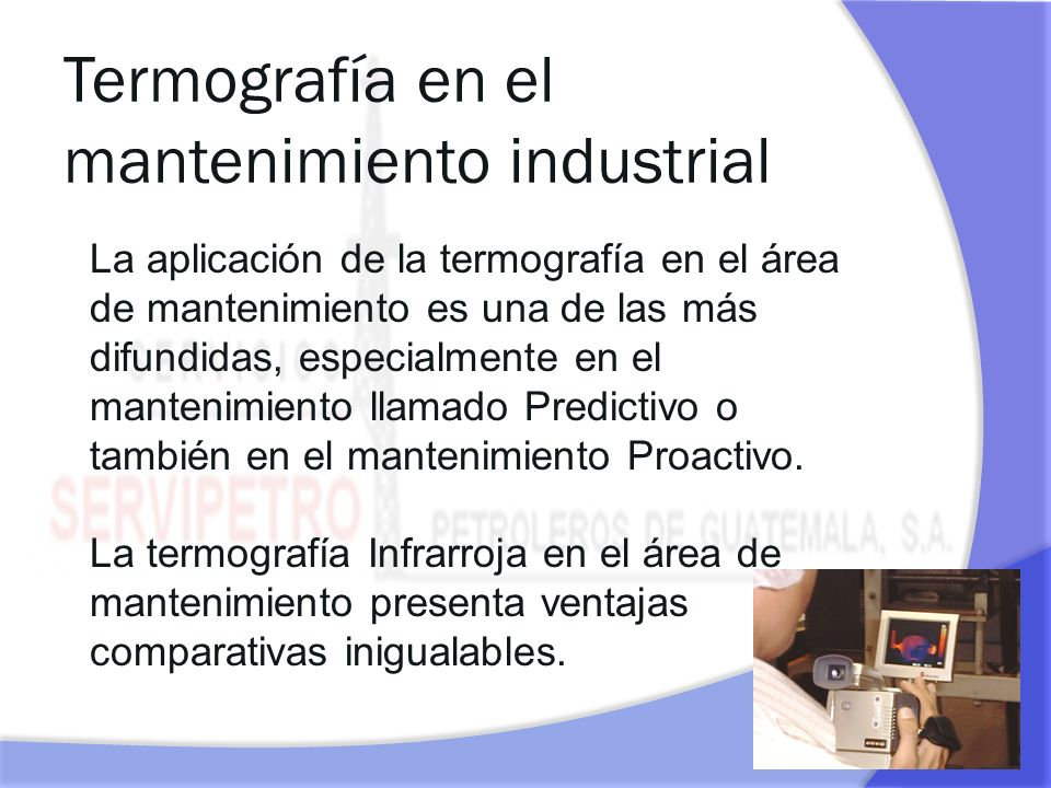 Termografía en el mantenimiento industrial
