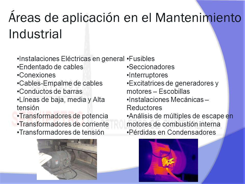 Áreas de aplicación en el Mantenimiento Industrial