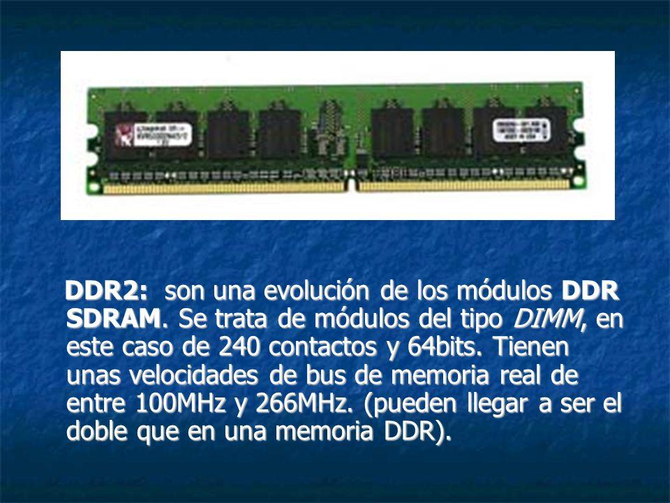 DDR2: son una evolución de los módulos DDR SDRAM