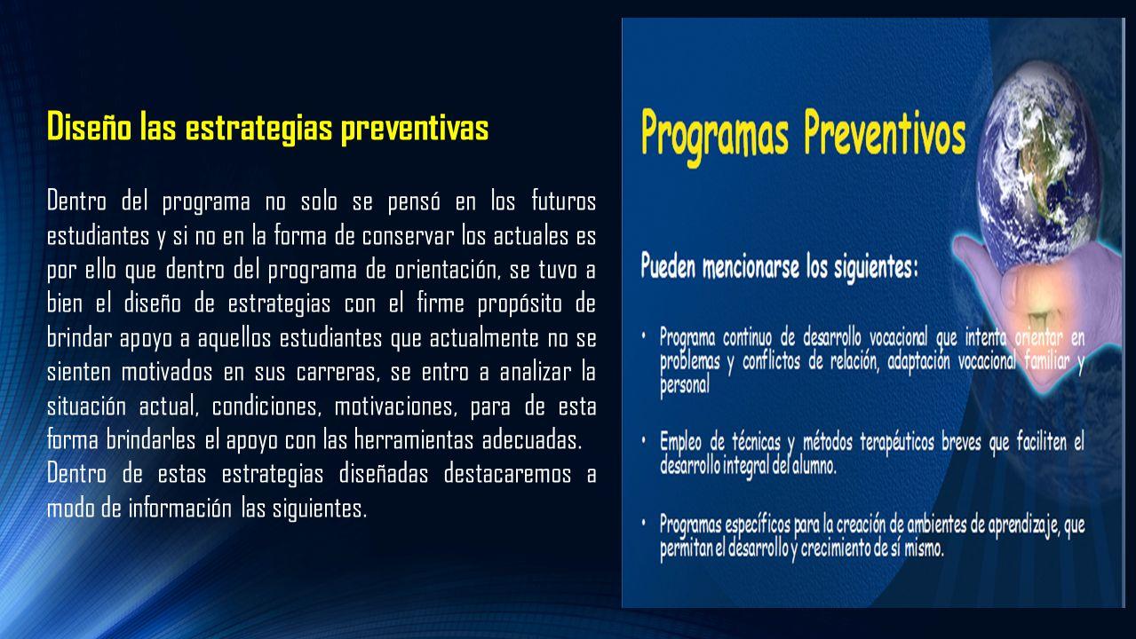 Diseño las estrategias preventivas